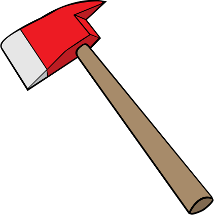 Axe clipart long object PNG Axe Axe images Firefighter