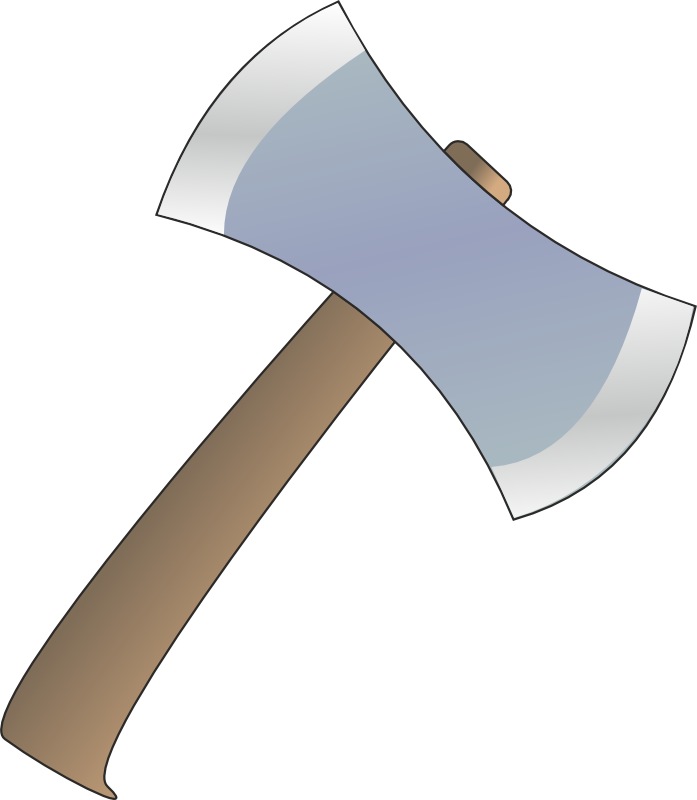Axe clipart long object Axe Axe Simple Free to
