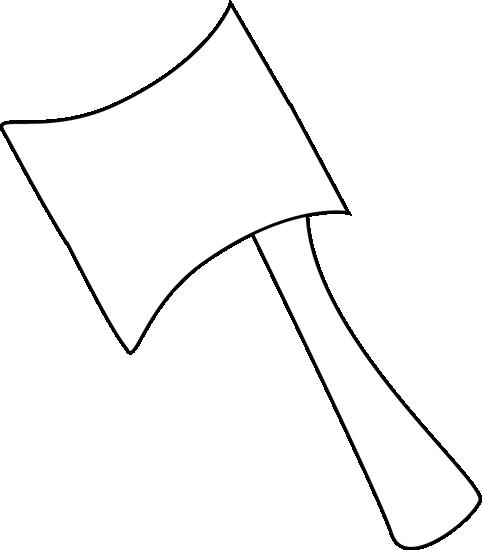 Axe clipart black and white White Art Axe Clip Axe