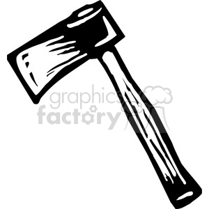 Axe clipart black and white #12