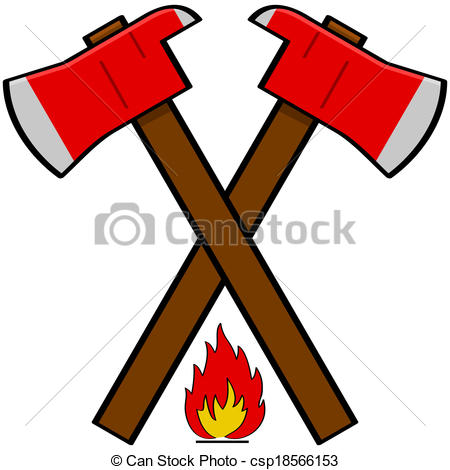 Firefighter clipart axe Cartoon Clipart Out Free Putting