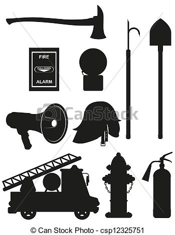 Firefighter clipart fire fighting equipment Silhouette Illustrations 744 icons art