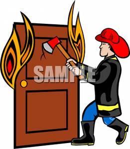 Axe clipart fireman Door a Axe Clipart To