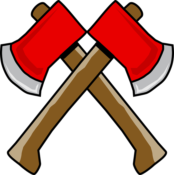 Axe clipart object  blade double equipment blade