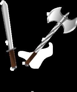 Axe clipart sword Clker clip Sword at Sword