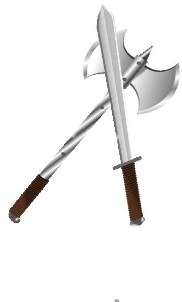 Axe clipart sword Clker clip Download at Sword