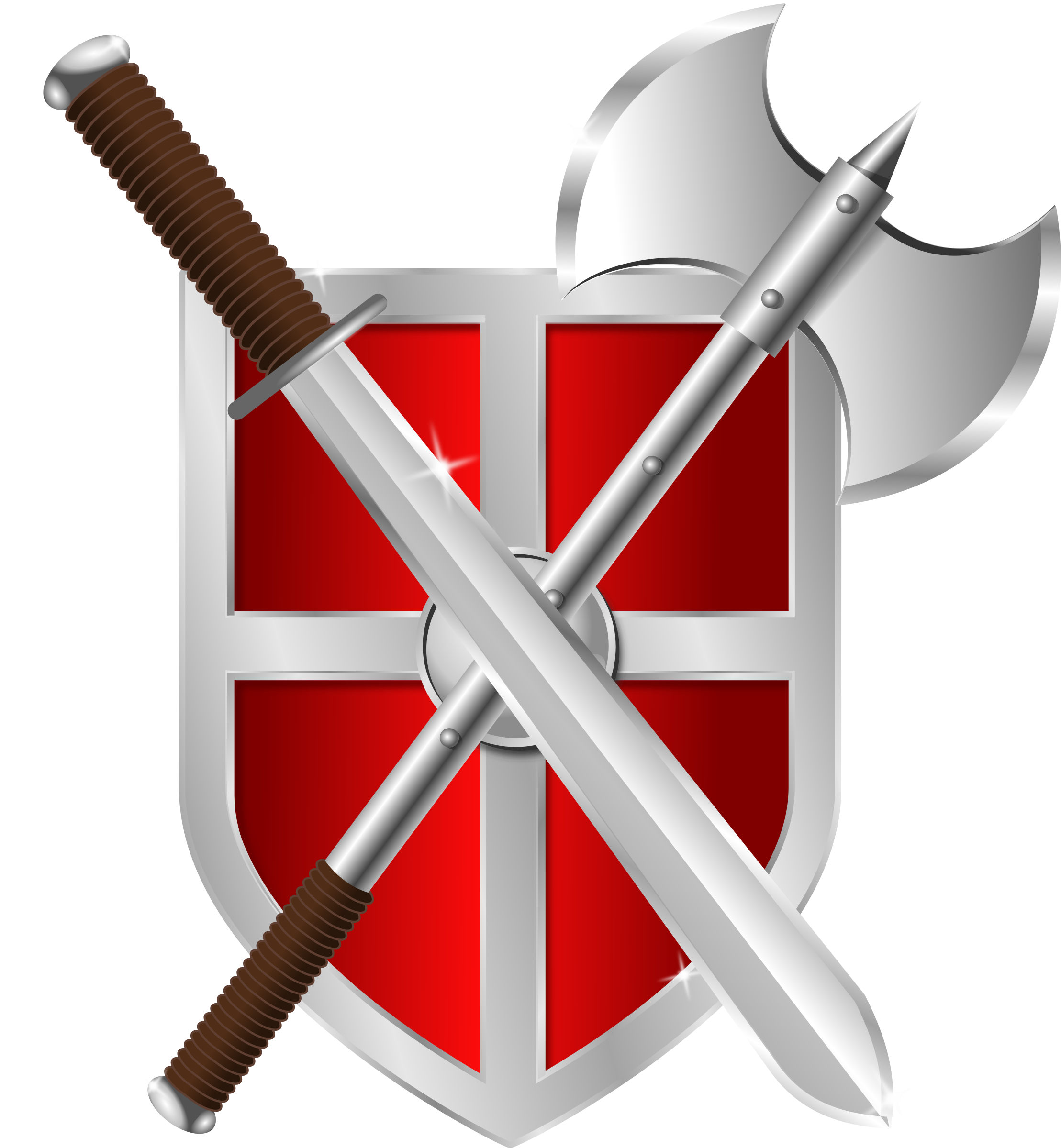 Axe clipart sword Sword shield Clipart & shield