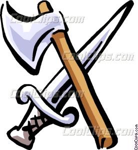 Axe clipart sword Axe art and sword axe
