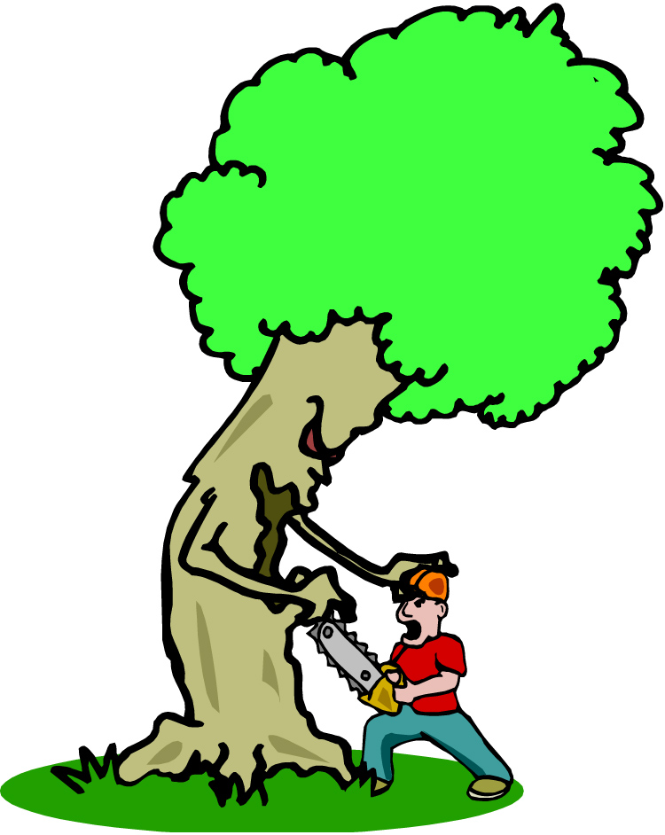 Chainsaw clipart tree removal #10