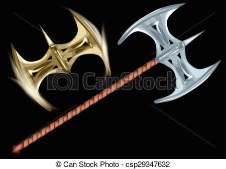 Axe clipart two Black of axe two axe