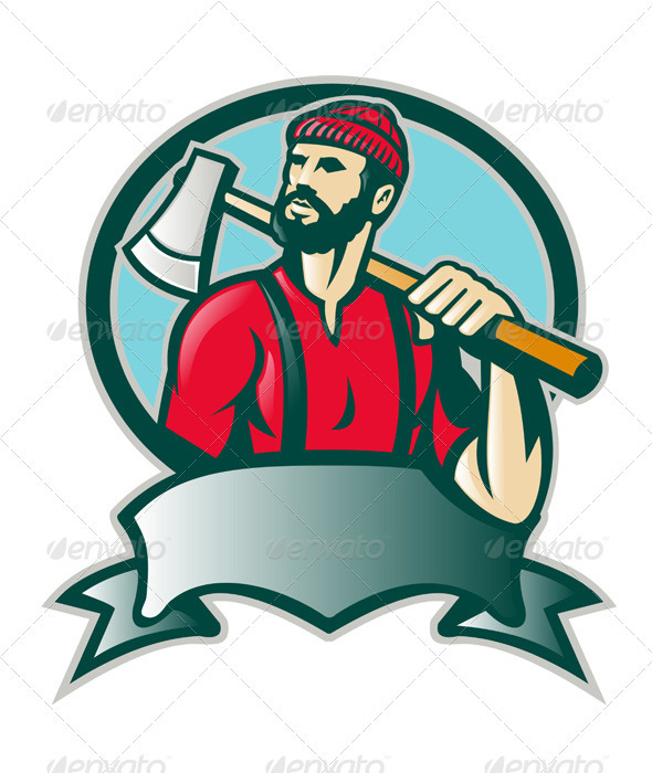 Axe clipart wood cutter Patrimonio Forester Woodcutter by Characters
