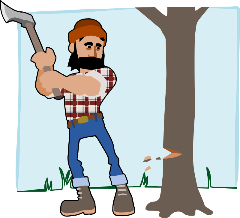Timber clipart black and white IMAGE Clipart (PNG) MEDIUM lumberjack