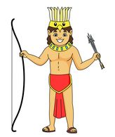 Spear clipart roman soldier Man Art Aztec traditional Clipart