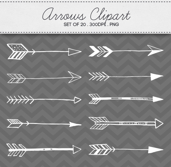 Arrow clipart aztec Set Drawn 20 of Tribal