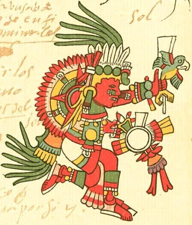 Aztec clipart aztec god #10