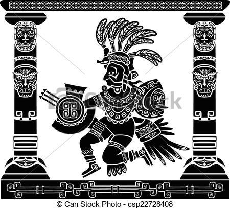 Aztec clipart aztec god #6
