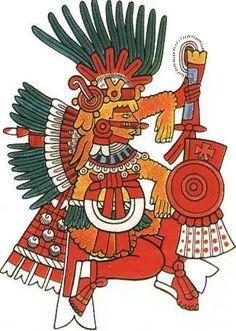 Aztec clipart aztec god #5