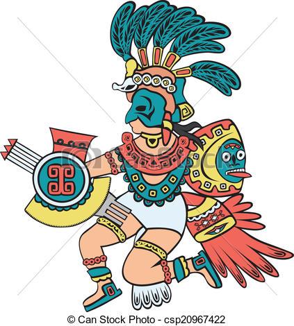 Aztec clipart aztec god #7