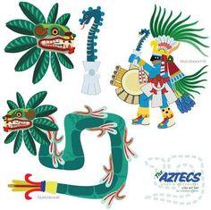 Aztec clipart aztec god #11