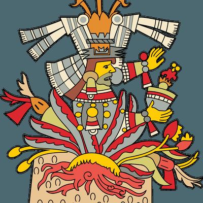 Aztec clipart aztec god #3