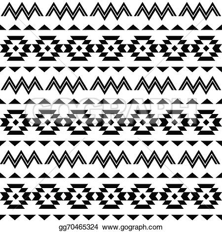 Aztec clipart black and white #8