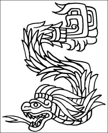 Aztec clipart black and white #10