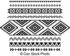 Aztec clipart black and white #9