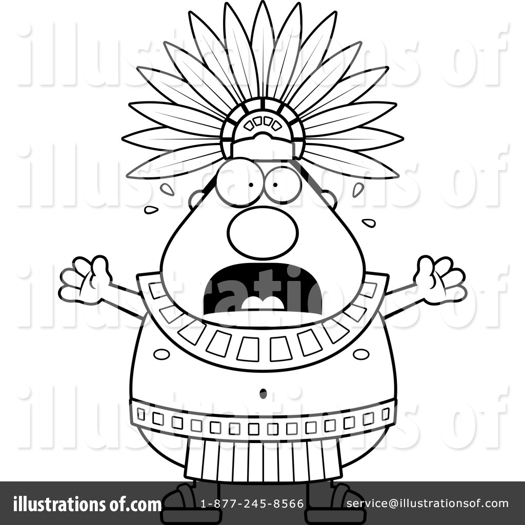 Aztec clipart black and white #11