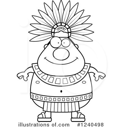 Aztec clipart black and white #6