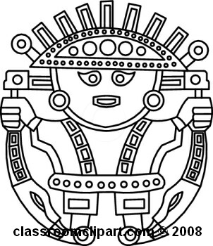 Aztec clipart black and white #5