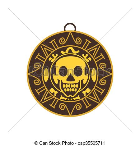 Coin clipart bunch Aztec gold icon icon Vector