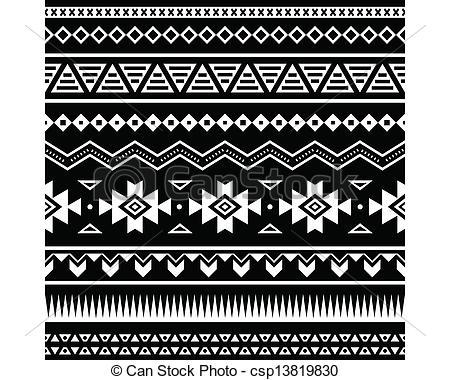 Aztec clipart drawing Seamless ornament seamless csp13819830 Aztec