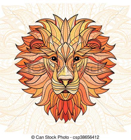 Aztec clipart head #8