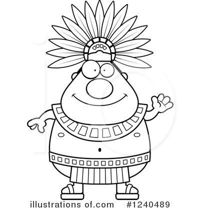 Aztec clipart head #12