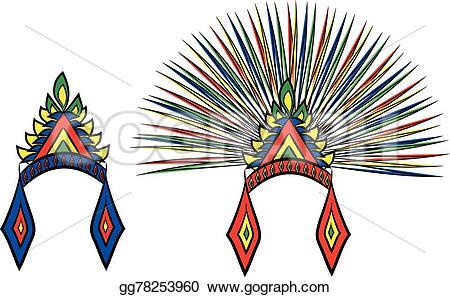 Aztec clipart head #11