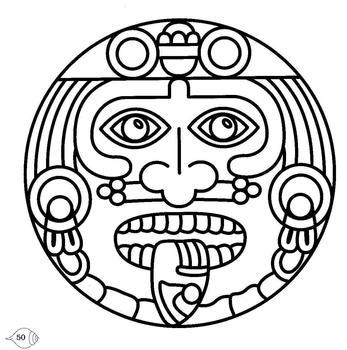 Aztec clipart head #10