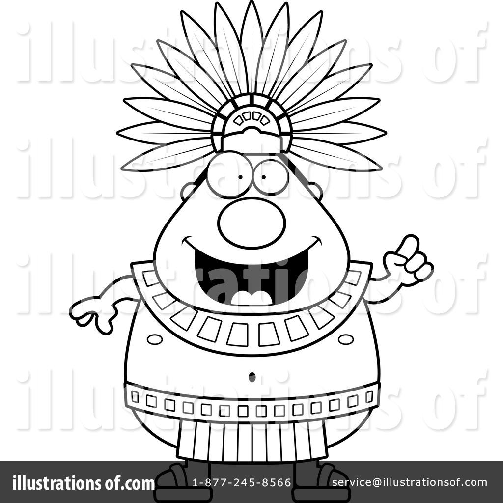 Aztec clipart head #4