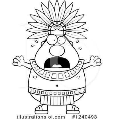 Aztec clipart head #5