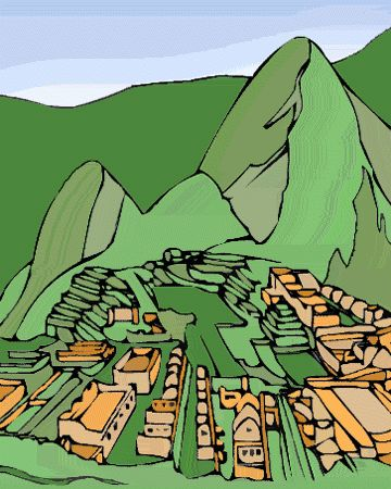 Aztec clipart machu picchu 34 Incas The Picchu Pinterest