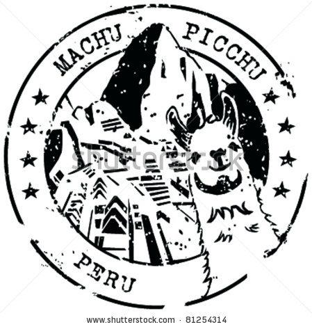 Aztec clipart machu picchu Via via Machu Stamp vdLee