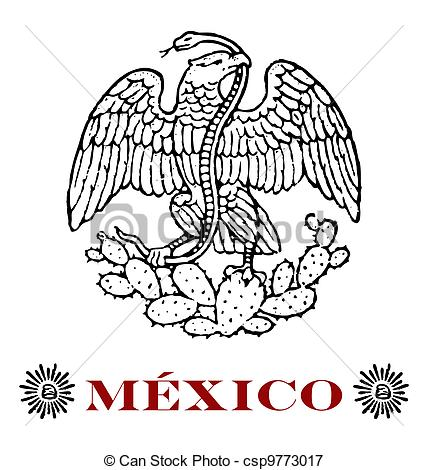 Aztec clipart mexican eagle Eagle with Vector of mexican