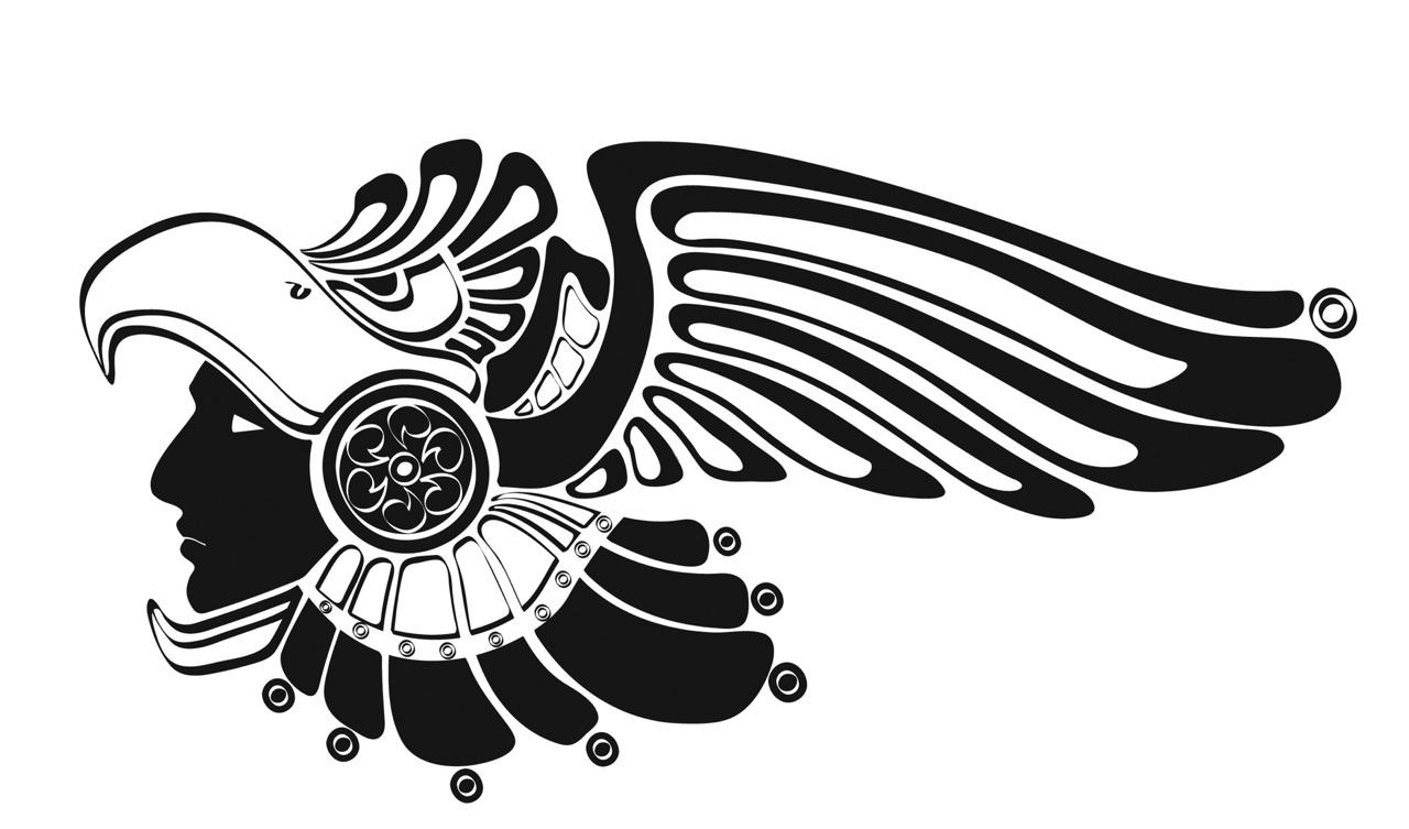 Aztec clipart mexican eagle Stencil designs 143 Aztec page