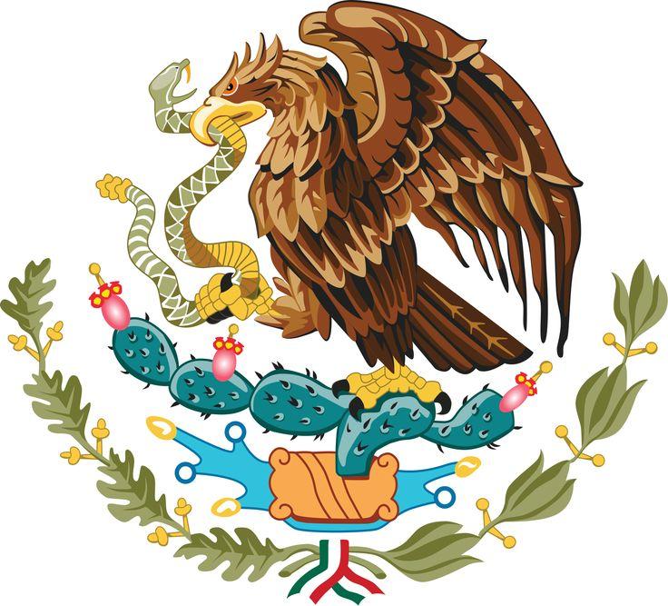 Aztec clipart mexican eagle Arms on encyclopedia Pinterest Coat
