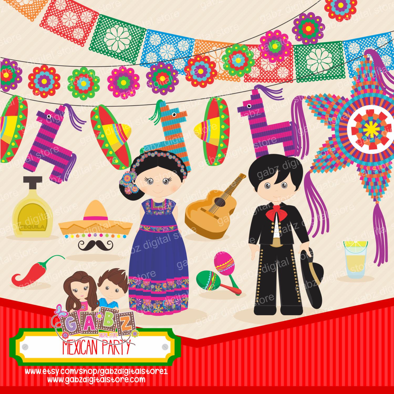 Tequila clipart mexican guitar Hat Pinata Patterns clipart Aztec