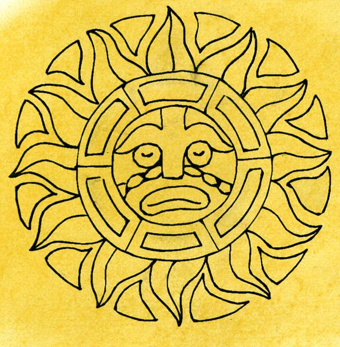 Aztec clipart sun god #8