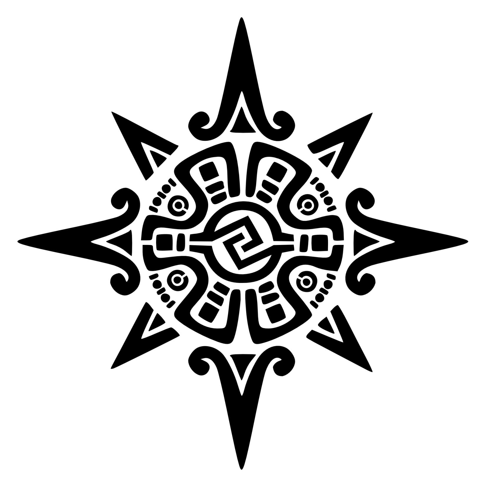 Aztec clipart sun god #5