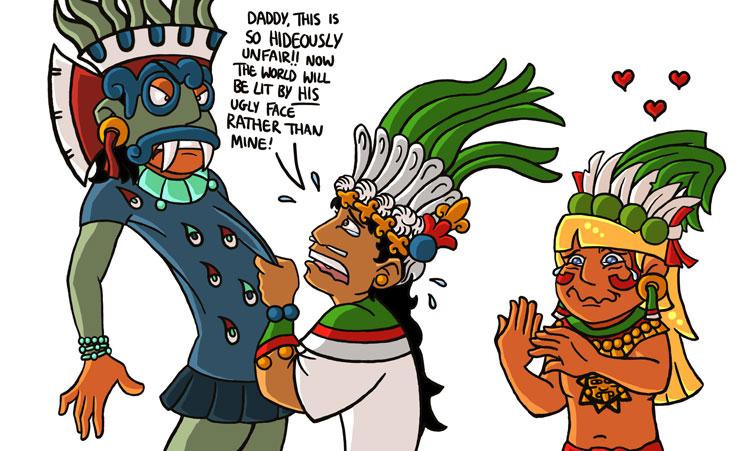 Aztec clipart sun god #9