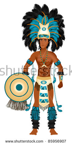 Clipart people of aztec dancing