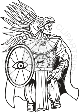 Aztec Warrior clipart With with Warrior Warrior Shield