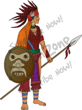 Aztec Warrior clipart And Aztec Stock clipart Warrior